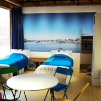 A mock replica of a typical room for Tokyo Games athletes.  | RYUSEI TAKAHASHI