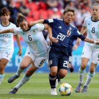 Yokoyama (right) scored 17 goals in 43 appearances for Nadeshiko Japan, featuring for the side at the 2019 Women's World Cup in France. | REUTERS