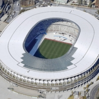 The National Stadium will host the opening ceremony of the Tokyo 2020 Olympic Games on July 23. | KYODO
