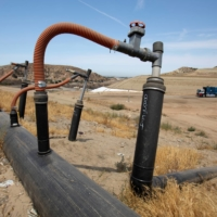 Gas collection well heads at the Frank R. Bowerman landfill in Irvine | REUTERS