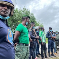 A police raid related to a child labor investigation at farms near Soubre, Cote d'Ivoire, in May | BLOOMBERG