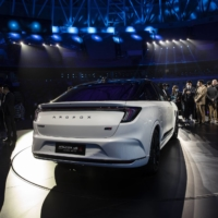 BAIC Group's Arcfox Alpha-S electric sedan during an unveiling event in Shanghai   BLOOMBERG
