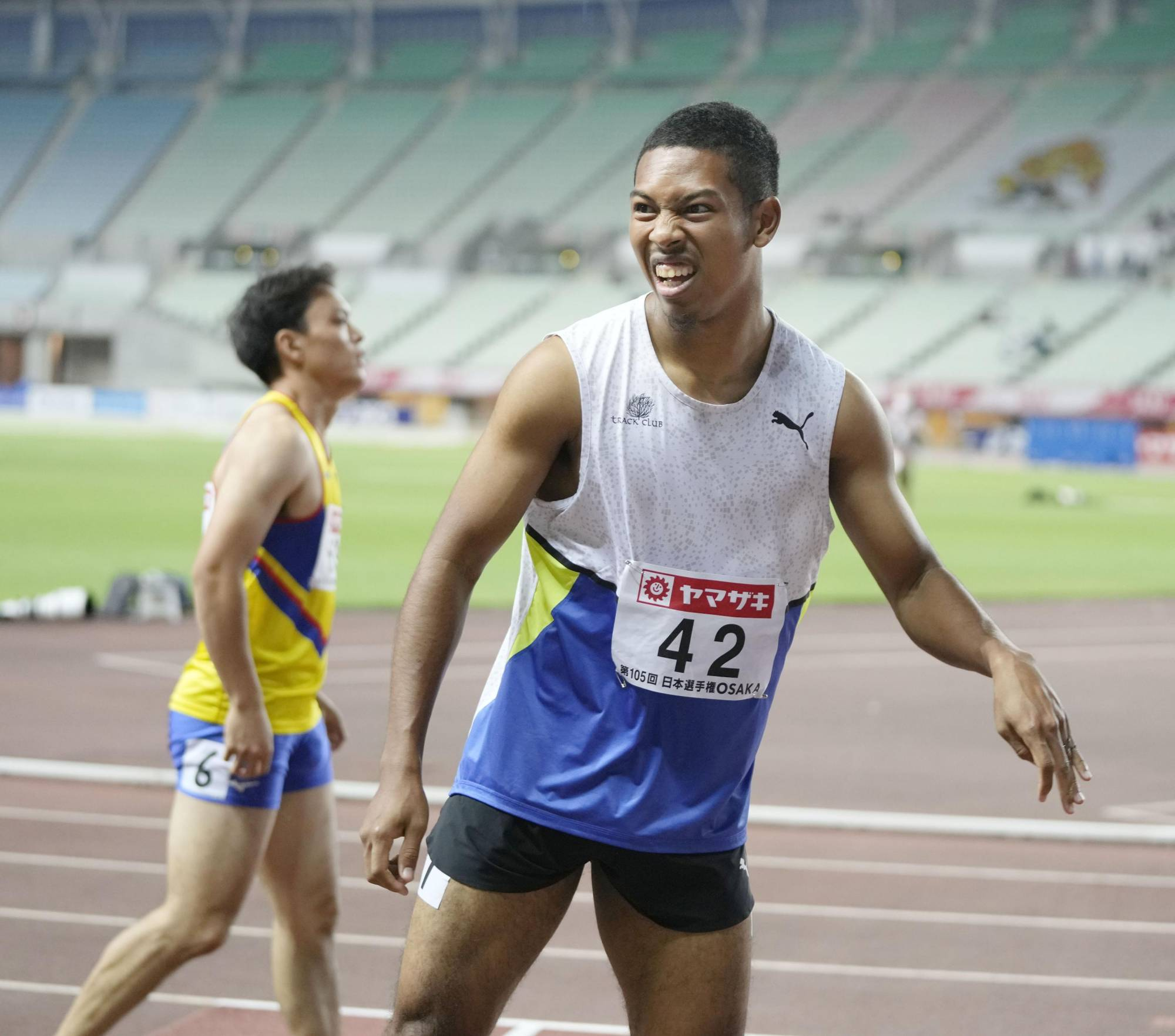 Former national 100-meter record holder Abdul Hakim Sani Brown could still qualify for the 200 despite pulling out of the event at the national championships in Osaka. | KYODO