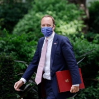 Matt Hancock, the frontman for Britain's response to the pandemic and particularly the nationwide vaccine rollout, quit as health secretary in a letter to Prime Minister Boris Johnson. | AFP-JIJI