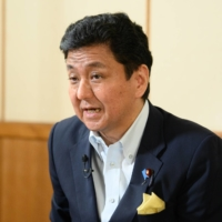 Defense Minister Nobuo Kishi said in an interview earlier this month that the security of Taiwan is directly linked with that of Japan. | BLOOMBERG