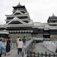 Kumamoto Castle main tower reopens to public after quake damage in 2016