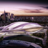 The original design of the Olympic stadium in Tokyo proposed by architect Zaha Hadid was scrapped due to its cost and scale.   TOKYO 2020