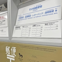 The golden mailboxes will display the medalist's name, sport and hometown in Japanese, English and Braille.  | KYODO