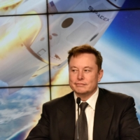 SpaceX founder and chief engineer Elon Musk attends a news conference at the Kennedy Space Center in Cape Canaveral, Florida, in January 2020.    REUTERS