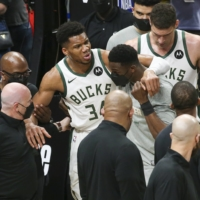 Hawks pull level with Bucks as Giannis Antetokounmpo exits injured