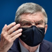 International Olympic Committee (IOC) President Thomas Bach praised medical workers and volunteers for making the Tokyo Games possible, during an IOC session Tuesday. | AFP-JIJI