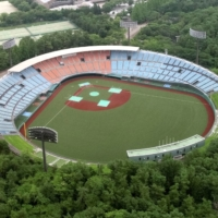 Spectators have been banned from watching softball or baseball games at Fukushima Azuma Stadium during the Olympics due to concerns over COVID-19. | KYODO