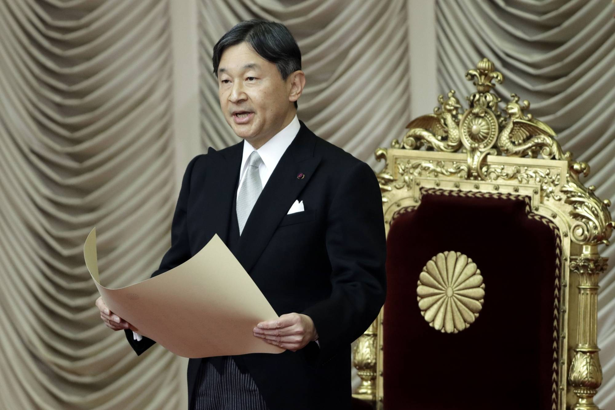 Emperor Naruhito will attend the opening ceremony of the Tokyo Olympics on Friday. | BLOOMBERG