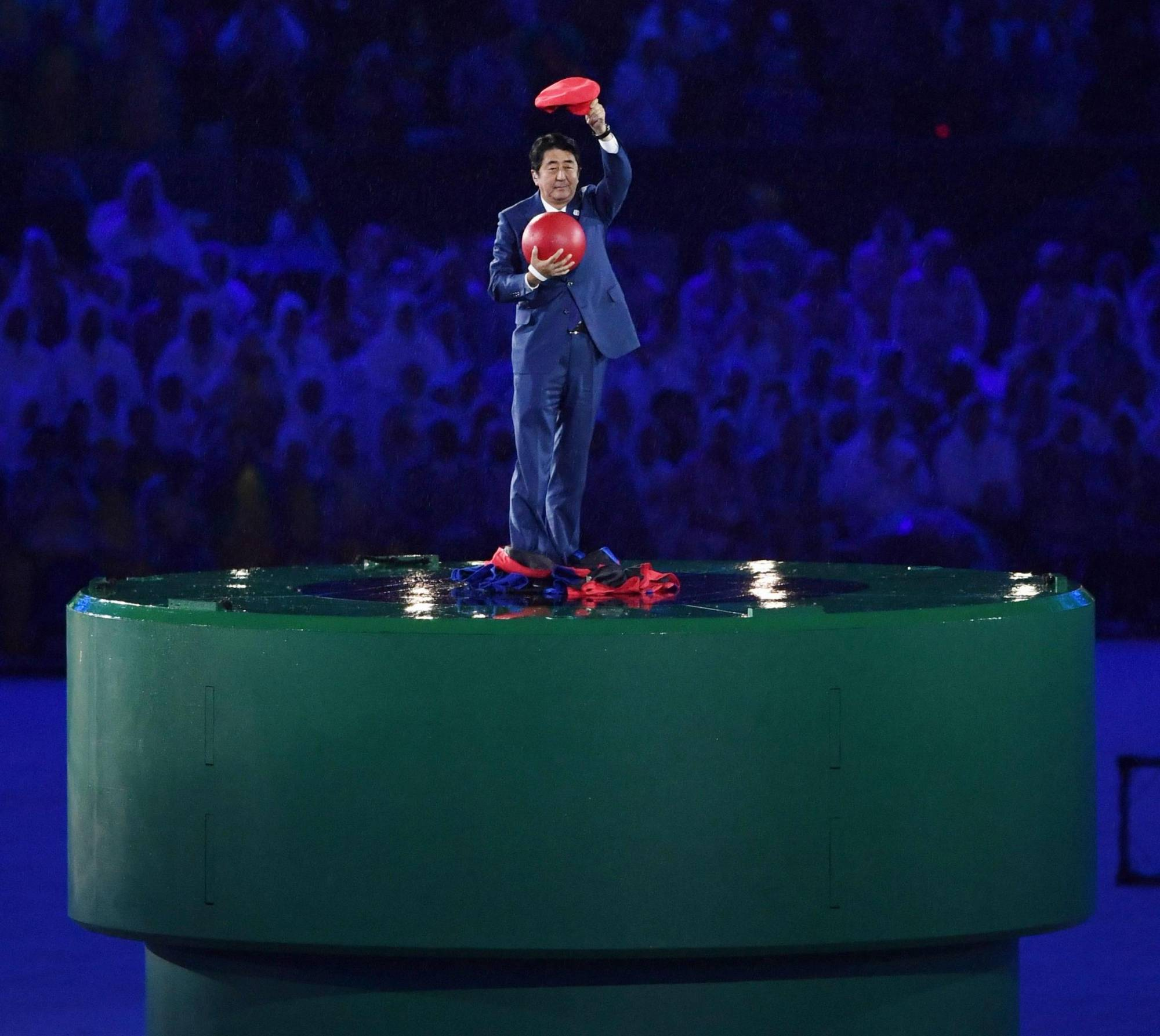 Full of surprises: Will the Tokyo Olympics opening ceremony have moments as meme-worthy as then-Prime Minister Shinzo Abe's appearance as video game character Mario at the Rio 2016 closing ceremony?   KYODO