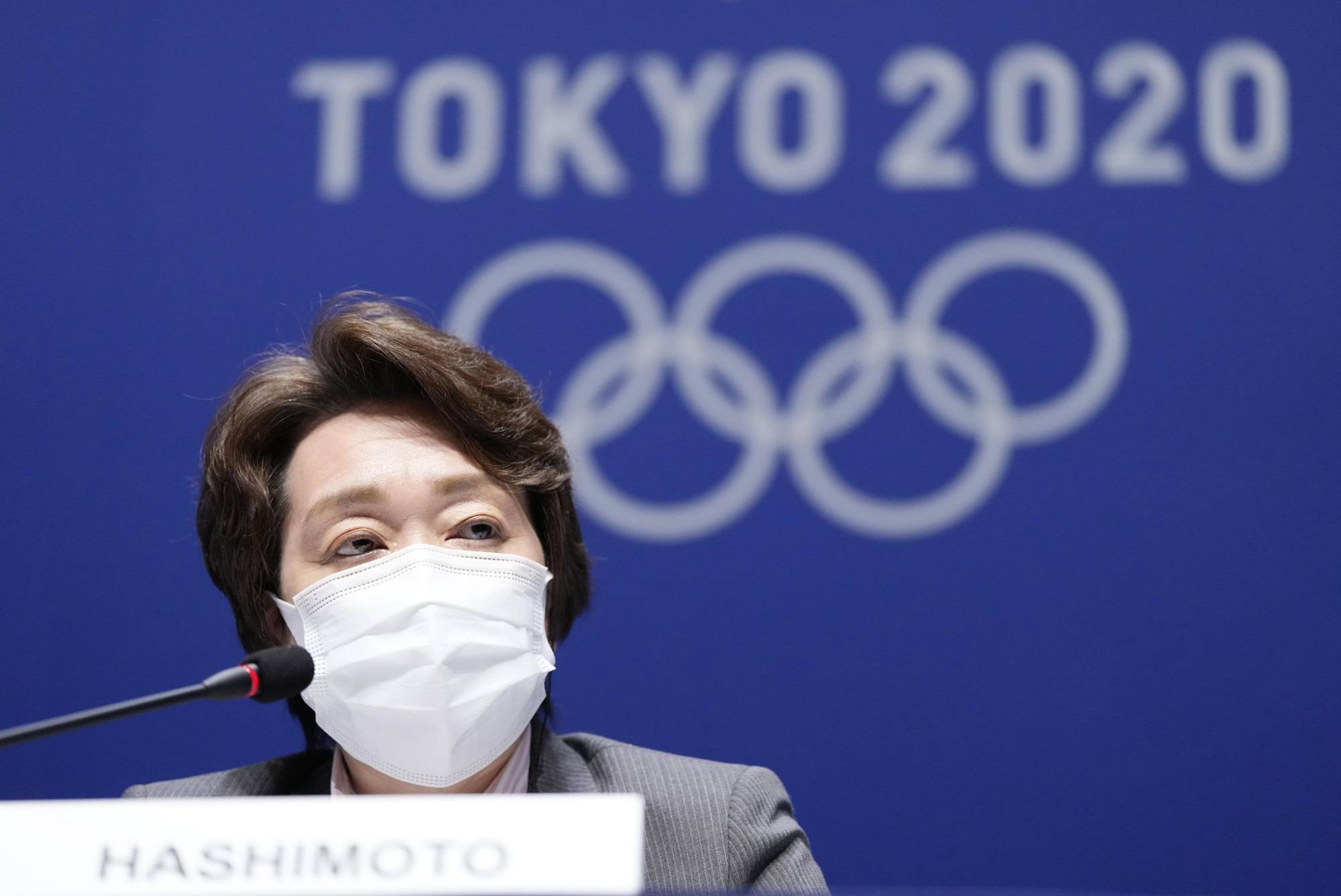Seiko Hashimoto, president of the Tokyo Organisng Committee, attends a news conference in Tokyo on Thursday. | KYODO