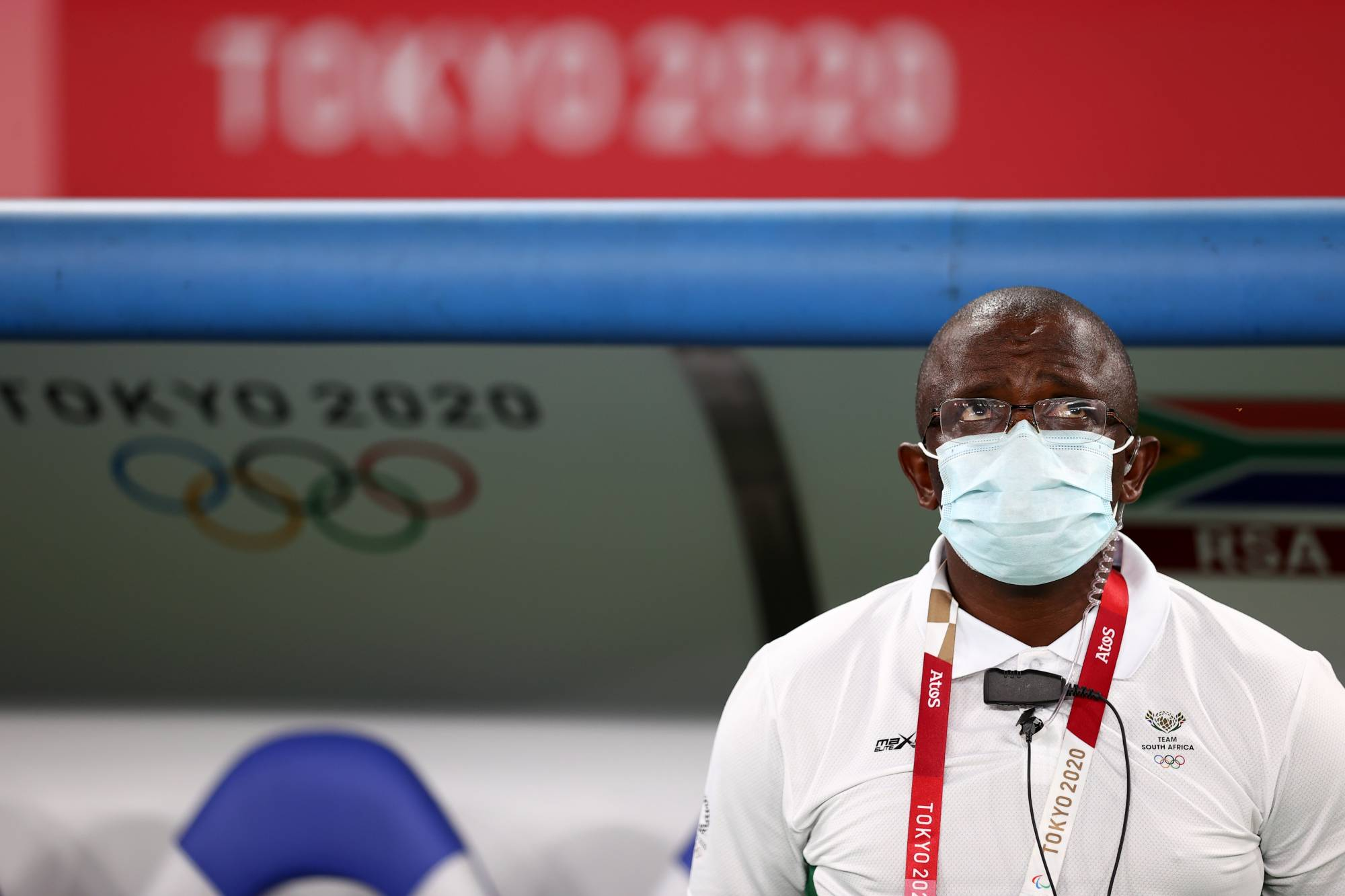 South Africa coach David Notoane before the match on Thursday at Tokyo Stadium. | REUTERS