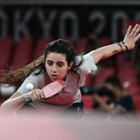 Syrian 12-year-old table tennis player, Tokyo Games' youngest competitor, exits in first round