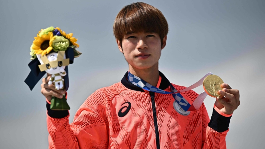Japan's Yuto Horigome wins first skateboarding gold in Olympic history