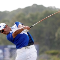 Hideki Matsuyama hits from the 16th tee during the third round of the PGA Championship in May. | USA TODAY / VIA REUTERS