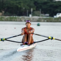 Rower Joan Poh training in Singapore in July 2021. | KONG CHONG YEW / SNOC / VIA THE NEW YORK TIMES