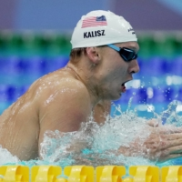 Chase Kalisz swims during the 400 IM final at Tokyo Aquatics Centre on Sunday. | REUTERS