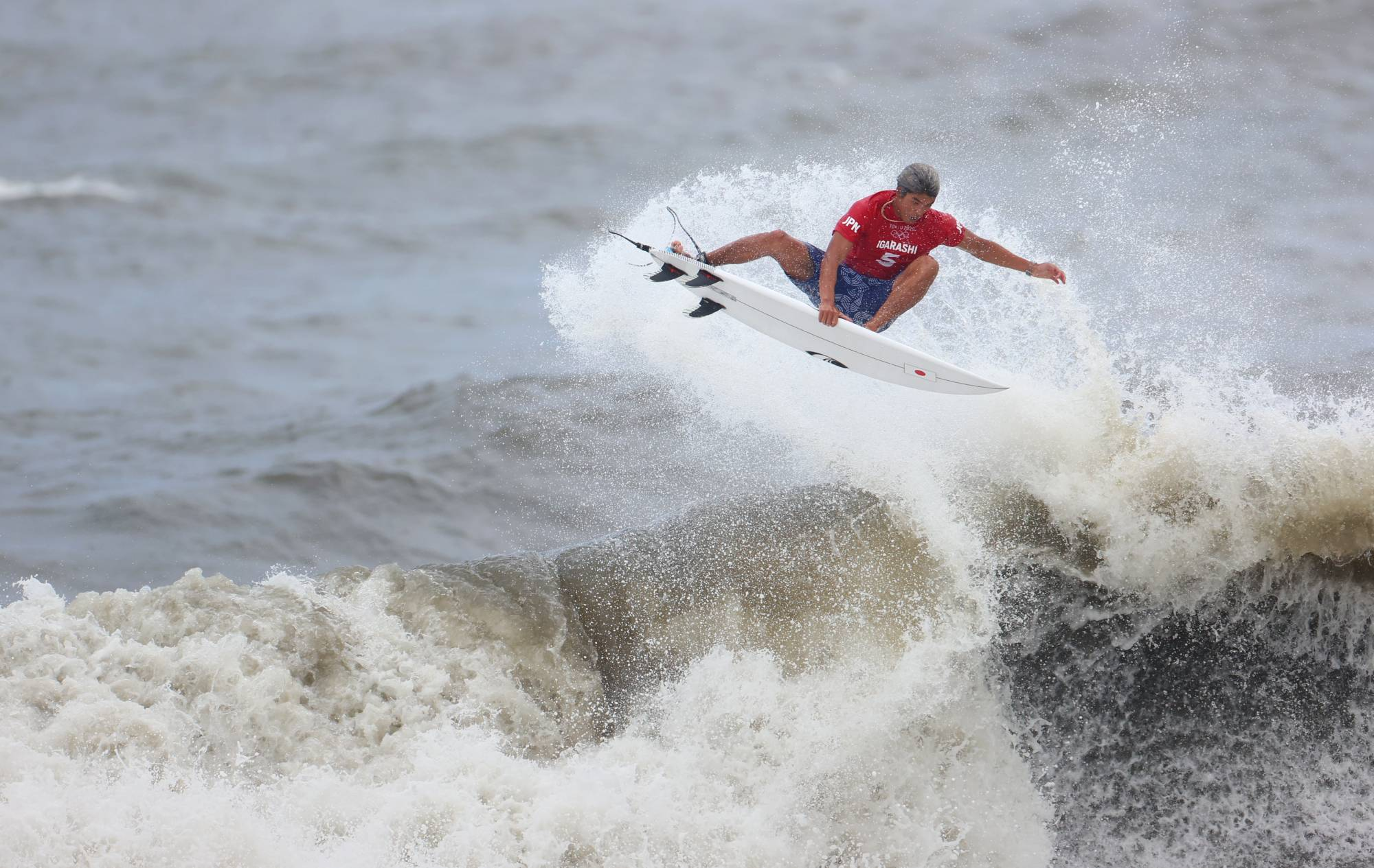 Japan's Kanoa Igarashi rode to the podium in the first-ever Olympic surfing competition Tuesday, securing a silver medal behind Brazil's Italo Ferreira. Japan's Amuro Tsuzuki took bronze in the women's competition. Reuters | REUTERS