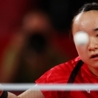 Mima Ito has already secured one gold medal at the Tokyo Games and she'll be looking to add to her collection on Thursday.  | REUTERS