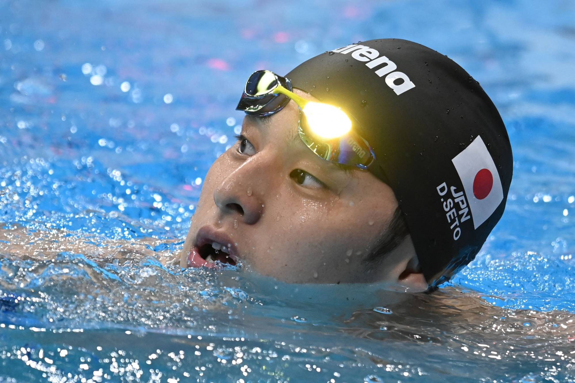 Japan's Daiya Seto finished fourth in the men's 200-meter individual medley on Friday, missing out on a medal in the only final he reached at the Tokyo Games. | AFP-JIJI