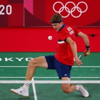 Viktor Axelsen of Denmark in action during his match against Wang Tzu-Wei of Taiwan.  | REUTERS
