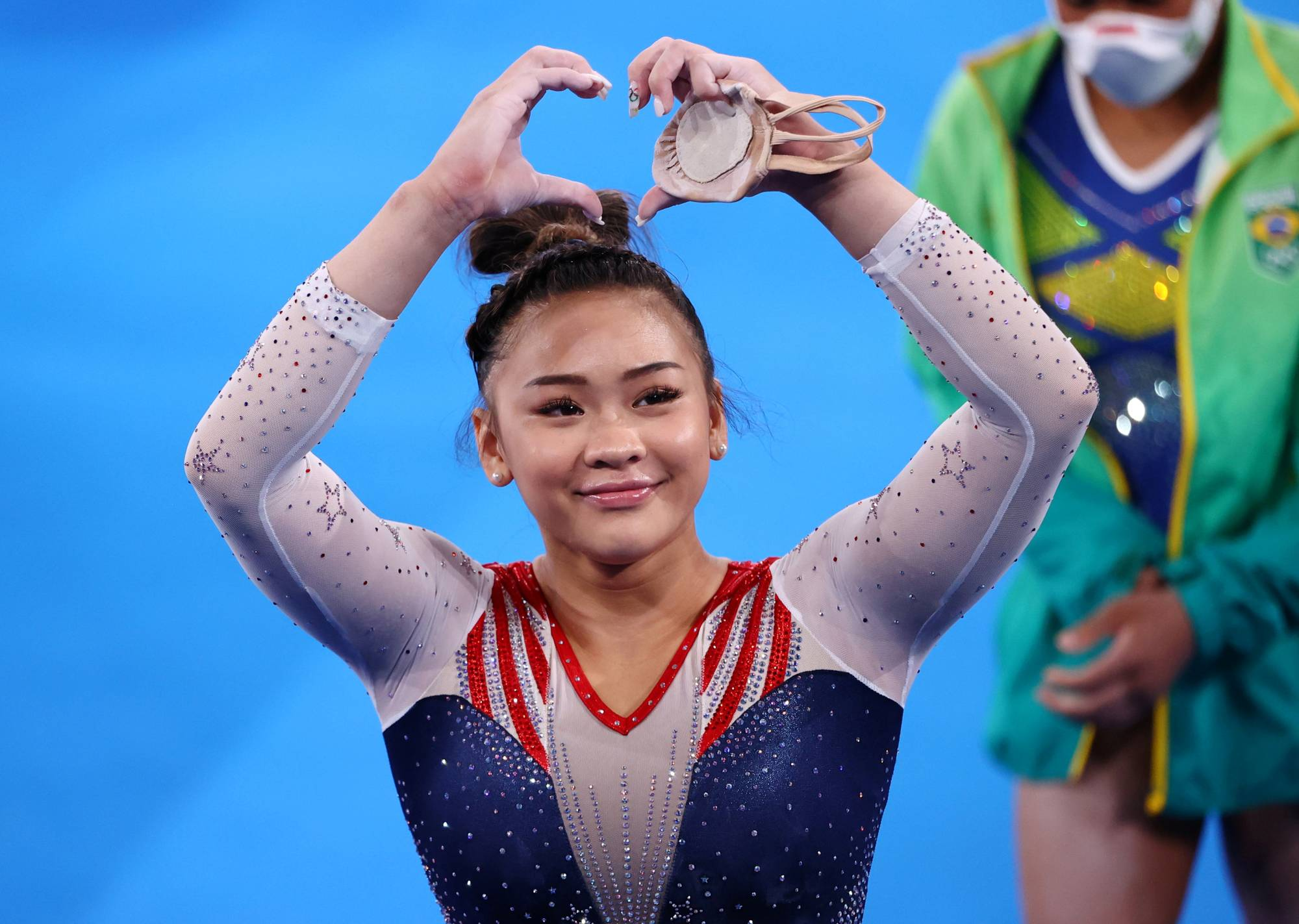 Sunisa Lee of the United States put her own talent on display for all to see Thursday at Ariake Gymnastics Centre.  | REUTERS