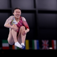 Japan's Hikaru Mori failed to make it out of the qualifying round in women's trampoline. | REUTERS