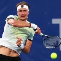 Alexander Zverev of Germany in action during his semifinal match against Novak Djokovic of Serbia | REUTERS