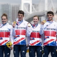 Britain takes home first-ever triathlon mixed-relay gold at Tokyo Games