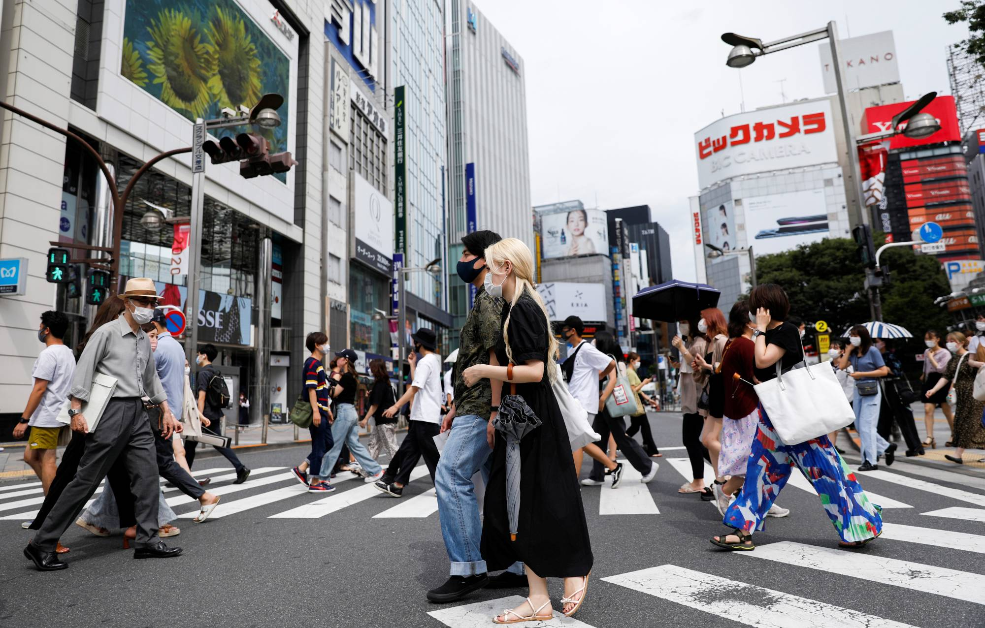 A commercial district of Shinjuku Ward during the state of emergency in Tokyo on Monday | REUTERS
