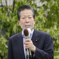 Natsuo Yamaguchi, leader of Komeito, says barring spectators from the Tokyo Olympics should remain an option.   KYODO