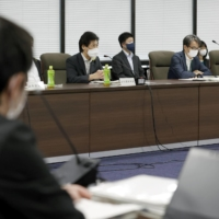 A meeting of the health ministry's expert panel on Wednesday in Tokyo | KYODO