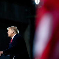 U.S. President Donald Trump speaks at a campaign rally in Duluth, Minnesota, on Sept. 30 of last year.  | ERIN SCHAFF / THE NEW YORK TIMES