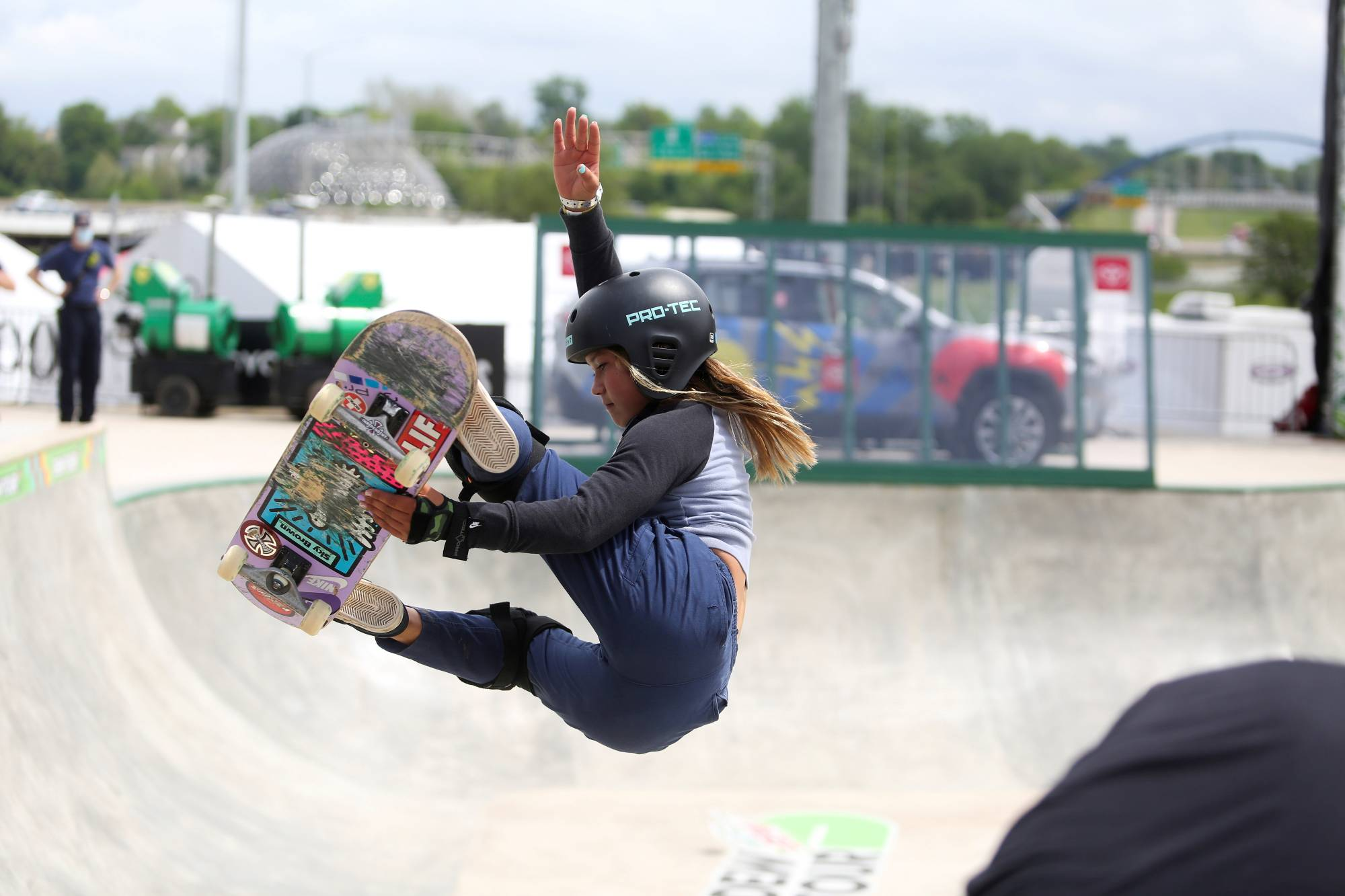 Sky Brown will set the record as Team GB's youngest Olympian at age 13 when she competes at the Tokyo Games.   REUTERS