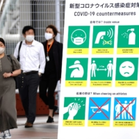 A sign for COVID-19 countermeasures at the media center for the 2020 Tokyo Olympic Games | REUTERS