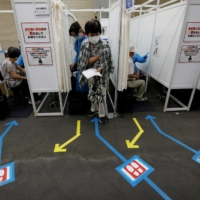 Some 75% of people aged 65 and over in Japan have received at least one dose of a COVID-19 vaccine, with most set to be fully vaccinated by the end of July, a government tally showed Saturday.   REUTERS