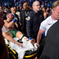 Conor McGregor suffers horrific injury in loss to Dustin Poirier