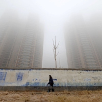 Polluted skies in Handan, Hebei province, China | REUTERS