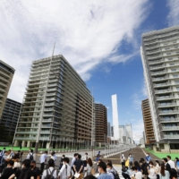 The athletes village for the Tokyo Olympics and Paralympics during a media tour in June | KYODO