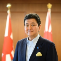 Defense Minister Nobuo Kishi said in an interview last month the security of Taiwan was 'directly connected' to that of Japan. | BLOOMBERG
