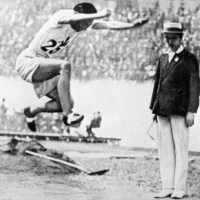 Mikio Oda jumped 15.21 meters in the triple jump at the Amsterdam Games in 1928 to win Japan's inaugural Olympic gold medal.  | KYODO