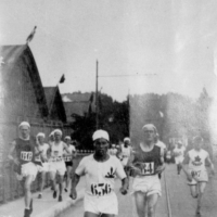 Long-distance runner Shizo Kanakuri failed to finish the marathon at the 1912 Stockholm Games in one of the most remarkable stories in Olympic history. | KYODO