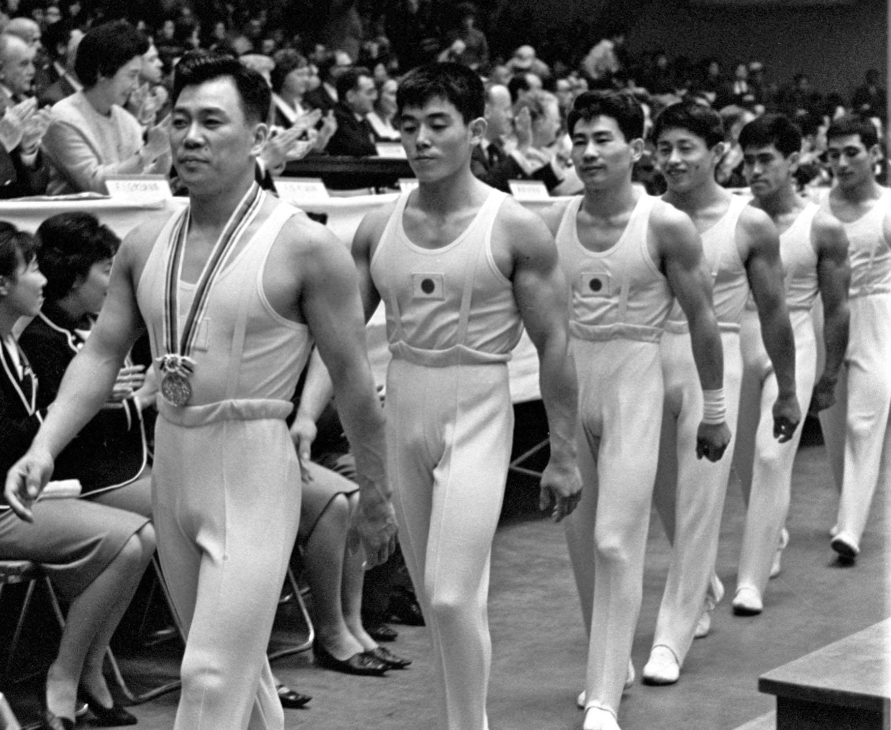 Gymnast Takashi Ono (left) is Japan's most decorated Olympian, capturing 13 medals, including five golds. | KYODO