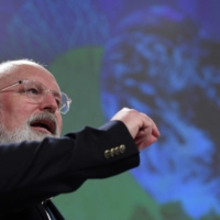 European Commission Vice President Frans Timmermans said the political challenge of reaching carbon neutrality was immense.   AFP-JIJI