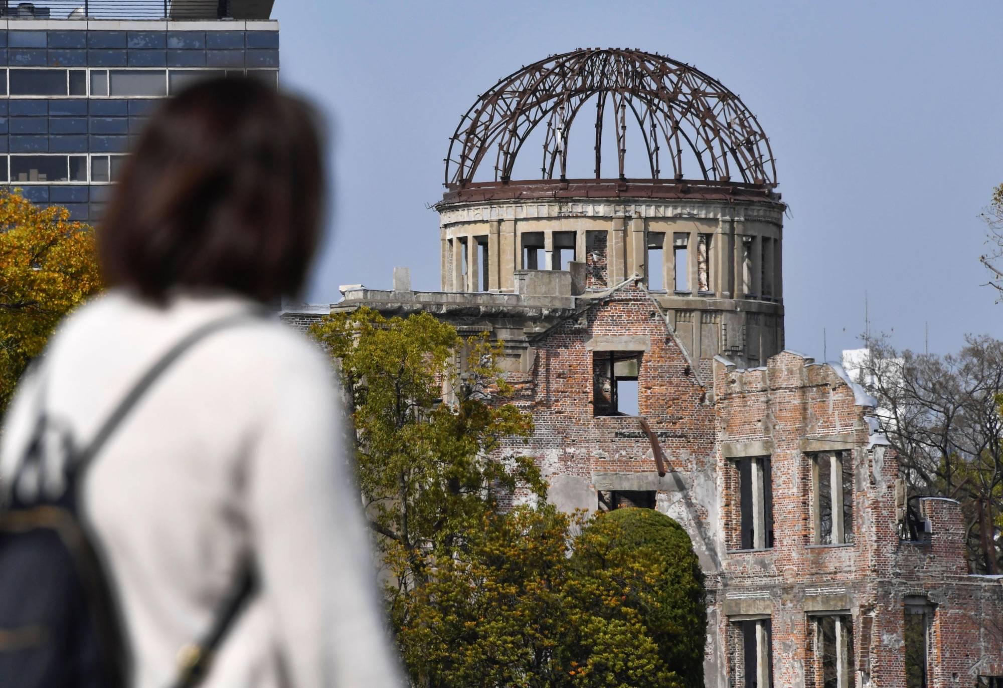 The Atomic Bomb Dome in Hiroshima in March | KYODO