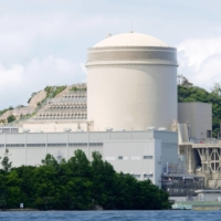 The No. 3 unit of Kansai Electric Power Co.'s Mihama plant in Fukui Prefecture became the country's first reactor to operate beyond 40 years under new regulations in June. | KYODO
